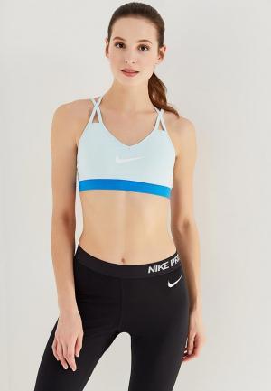 Топ спортивный Nike. Цвет: голубой