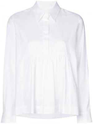 Расклешенная рубашка Peter Jensen. Цвет: белый