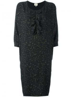 Платье с принтом Bellerose. Цвет: чёрный