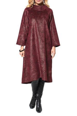 Платье А-фасона с широкими рукавами Kata Binska. Цвет: бордовый, золотой