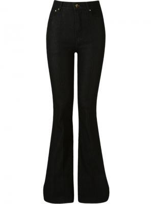 High waist flared jeans Amapô. Цвет: чёрный