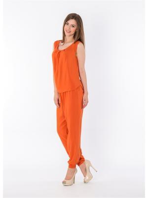 Брюки Sun&Art. Цвет: оранжевый