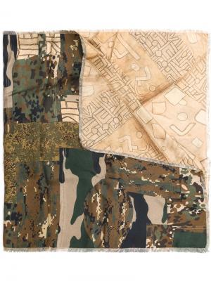 Шарф с камуфляжным принтом Pierre-Louis Mascia. Цвет: многоцветный