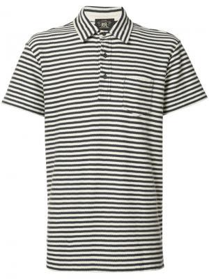 Рубашка-поло в полоску Rrl. Цвет: синий