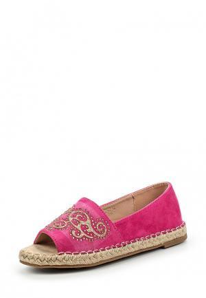 Эспадрильи Ideal Shoes. Цвет: розовый