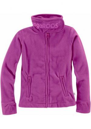 Флисовая куртка Kangaroos. Цвет: сиреневый, ярко-розовый