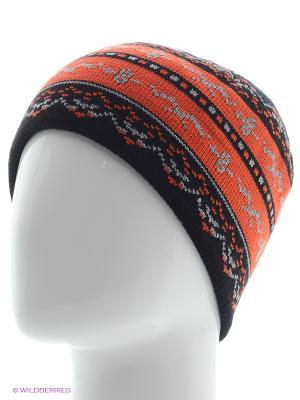 Шапка Shapkoff. Цвет: черный, серый, оранжевый