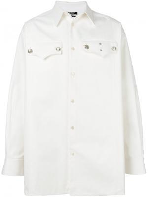 Рубашка с карманами клапанами Calvin Klein. Цвет: белый