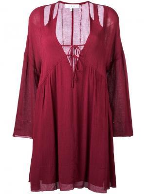Платье Enya Iro. Цвет: красный