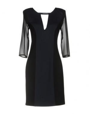 Короткое платье ANNARITA N.. Цвет: темно-синий