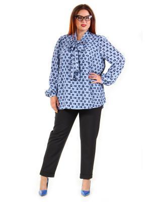 Блузка Luxury Plus. Цвет: голубой