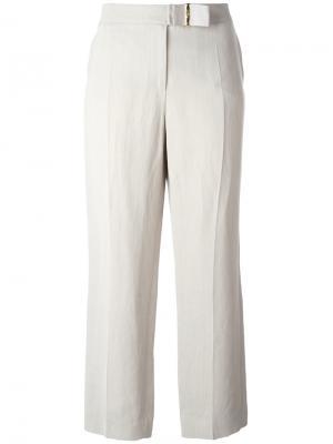 Укороченные брюки Salvatore Ferragamo. Цвет: серый