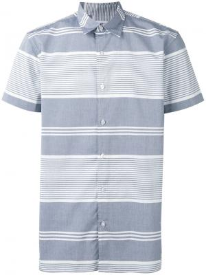 Полосатая футболка-поло Edwin. Цвет: синий