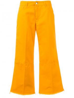 Широкие расклешенные брюки The Seafarer. Цвет: жёлтый и оранжевый