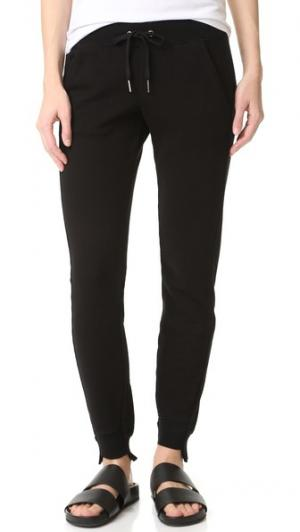 Спортивные брюки с неровным низом Pam & Gela. Цвет: голубой