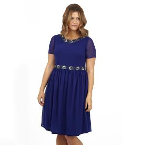 Платье KOKO BY. Цвет: синий