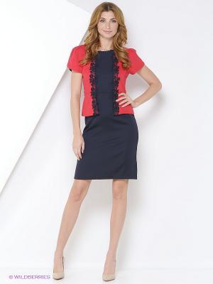 Платье TOPSANDTOPS. Цвет: красный, синий