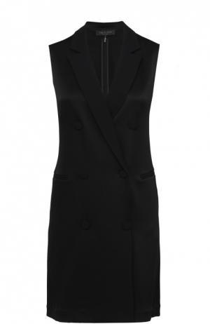 Мини-платье с запахом и широкими лацканами Rag&Bone. Цвет: черный