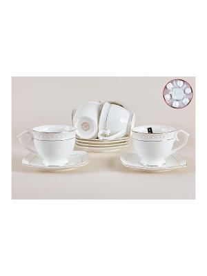 Набор чайный 280мл Коралл. Цвет: белый