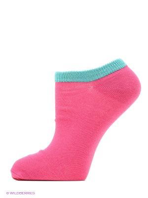 Носки ROXY. Цвет: бледно-розовый, розовый, белый