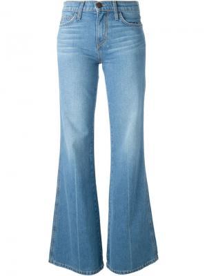 Выбеленные расклешенные джинсы Current/Elliott. Цвет: синий
