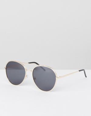AJ Morgan Черные солнцезащитные очки-авиаторы. Цвет: черный
