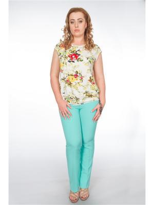 Блузка Pelagueya. Цвет: молочный, желтый, красный