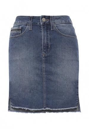 Юбка джинсовая Calvin Klein Jeans. Цвет: синий