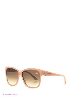 Солнцезащитные очки SK 0057 74F Swarovski. Цвет: бежевый