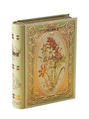 Чай Basilur Чайная книга. История Любви. Том 1 Tea Book. Love Story I. Цвет: светло-зеленый, золотистый
