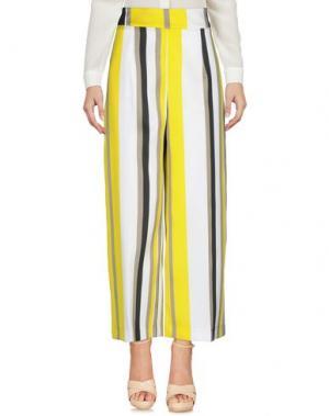 Повседневные брюки X'S MILANO. Цвет: желтый