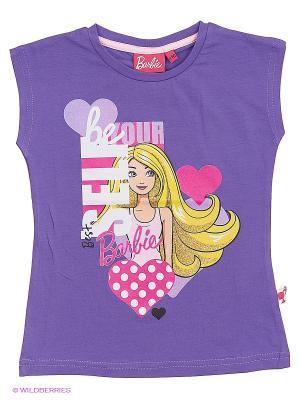 Футболка Barbie. Цвет: фиолетовый