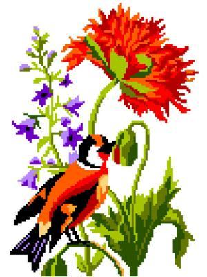 Набор 22х32 (рис/канв., мулине) NITEX. Цвет: красный, зеленый, коричневый