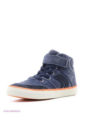 Кеды GEOX. Цвет: синий, оранжевый