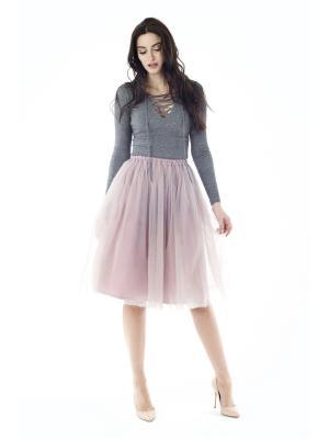 Пуловер на шнуровке Celine FreeSpirit. Цвет: серый