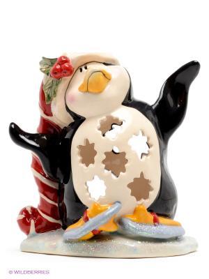 Подсвечник Пингвин в танце на льду Blue Sky. Цвет: черный
