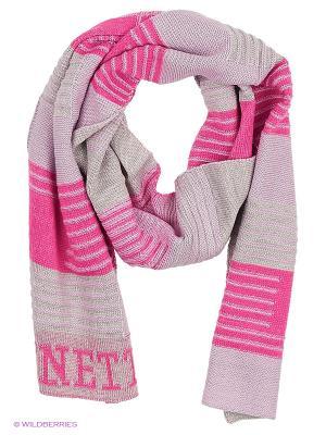 Шарф United Colors of Benetton. Цвет: фиолетовый, розовый