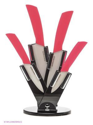 Ножи кухонные MAYER-BOCH. Цвет: розовый, черный
