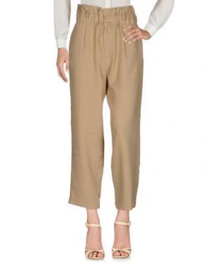 Повседневные брюки TELA. Цвет: песочный
