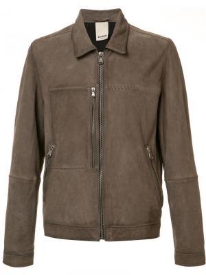 Куртка-пилотка Hawk Baldwin. Цвет: коричневый