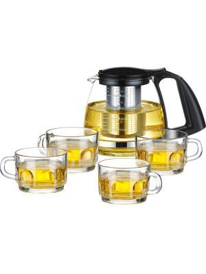 Набор для чаепития Calve. Цвет: черный