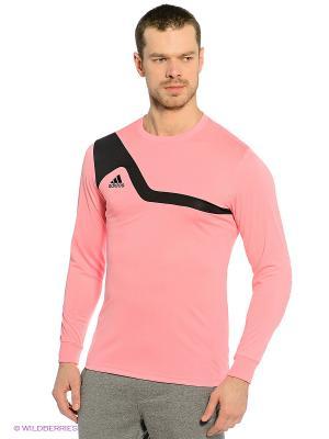 Лонгслив BILVO 13 GK JSY Adidas. Цвет: розовый, черный
