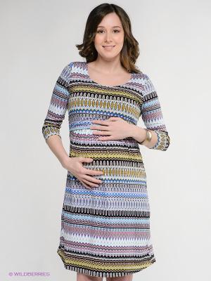 Платье Nuova Vita. Цвет: голубой, черный, зеленый