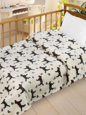 Плед  Велсофт-беби в кроватку, 95х130 Letto. Цвет: бежевый