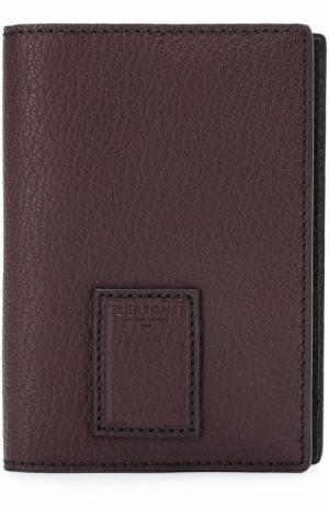 Кожаная обложка для паспорта Bertoni. Цвет: бордовый