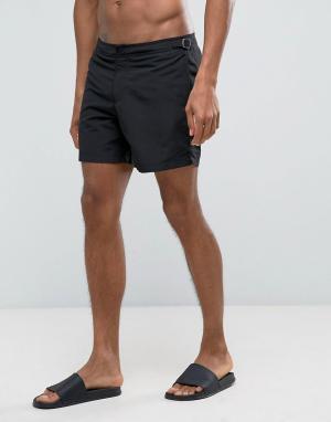 New Look Черные пляжные шорты. Цвет: черный