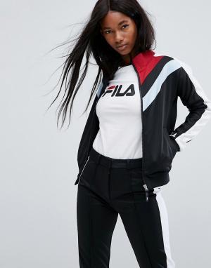 Fila Спортивная куртка в стиле колор блок на молнии. Цвет: черный
