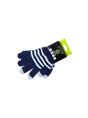 Перчатки для смартфона с поверхностью touchscreen. Цвет: темно-синий PROFFI. Цвет: темно-синий