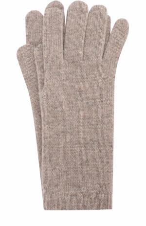Вязаные перчатки из кашемира Johnstons Of Elgin. Цвет: темно-бежевый