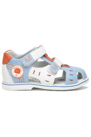Туфли открытые малодетские MILTON. Цвет: голубой